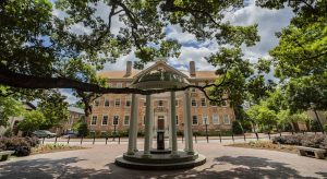 View of the Old Well and South Building on May 14, 2019, on the campus of the University of North Carolina at Chapel Hill. (Johnny Andrews/UNC-Chapel Hill)